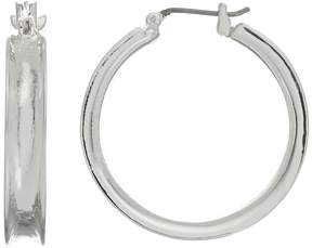 Dana Buchman Silver Tone Concave Hoop Earrings