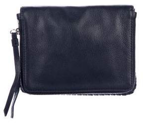 AllSaints Leather Fold-Over Clutch