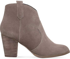 Miss KG Ladies Taupe Casual Sade Zip-Up Ankle Boots