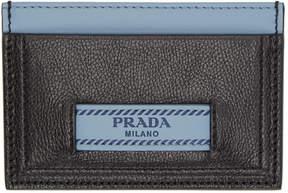 Prada Black and Blue Etiquette Card Holder