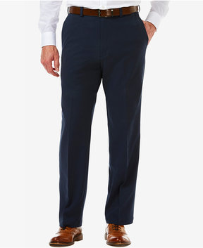 Haggar Men's Cool 18 Pro Classic-Fit Flat-Front Expandable Waist Pants