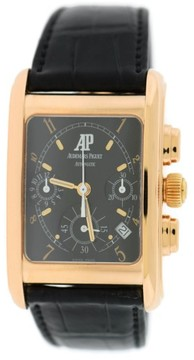 Audemars Piguet 25925OR 18K Rose Gold & Leather Automatic Chronograph 29mm Mens Watch