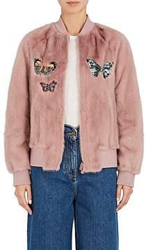 Valentino Women's Embellished Mink Fur Bomber Jacket