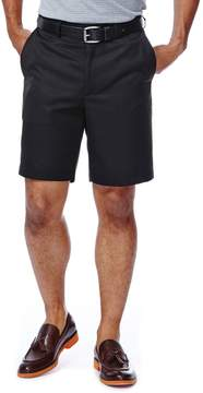 Haggar Big & Tall Cool 18 Plain-Front Microfiber Shorts