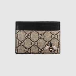 Gucci Bee print GG Supreme card case