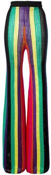 Balmain crochet high-rise trousers