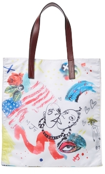 Marc Jacobs Byot Collage Print NS Tote Bag - OFF WHITE MULTI - STYLE