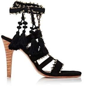 Ulla Johnson Women's Sabina Suede Ankle-Tie Sandals
