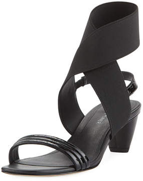 Donald J Pliner Hira Crinkled Patent Leather Low-Heel Sandal
