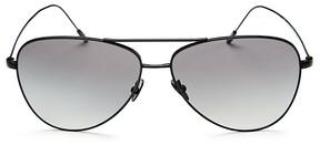 Giorgio Armani Lightweight Brow Bar Aviator Sunglasses, 58mm