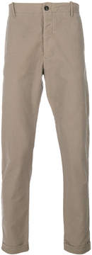 Closed regular roll up trousers