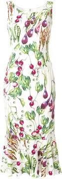 Dolce & Gabbana cady godet dress