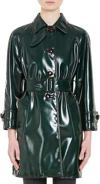Prada Women's Faux Patent Leather Trench Coat