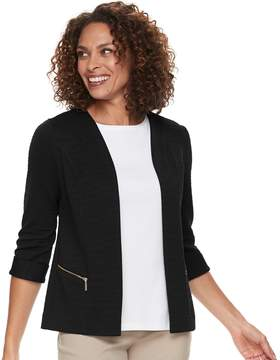 Dana Buchman Women's Textured Zipper-Pocket Jacket