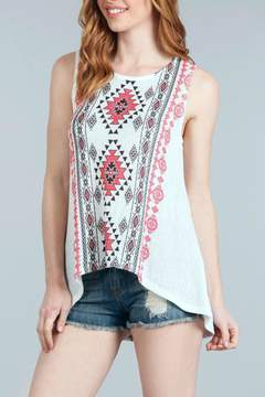 Blu Pepper Geometric Printed Tank