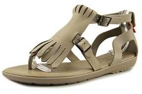 Hunter Fringe Sandal Women Open Toe Synthetic Gray Thong Sandal.