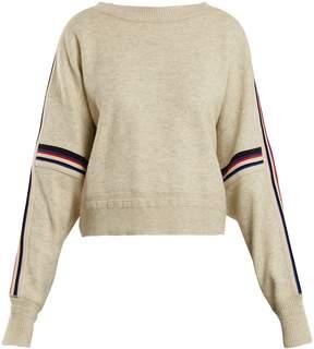 Etoile Isabel Marant Kao striped-detail cotton-blend sweater