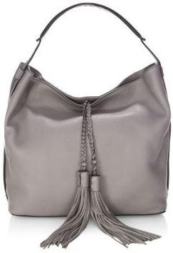 Rebecca Minkoff Isobel Leather Hobo Bag - GREY - STYLE