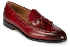 Salvatore Ferragamo Mario Leather Tassel Loafers