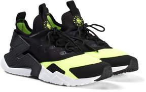 Nike Black and White Volt Huarache Run Drift Shoes