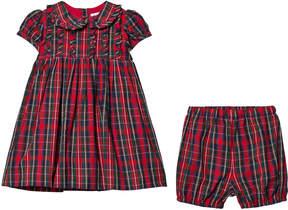 Rachel Riley Red Tartan Dress with Peter Pan Collar