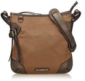 Burberry Pre-owned: Nylon Shoulder Bag. - BROWN - STYLE