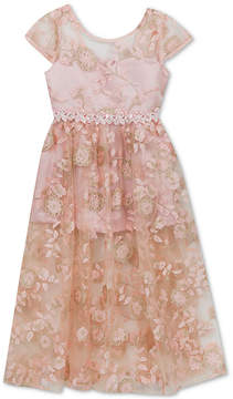 Rare Editions Little Girls Embroidered Maxi Dress