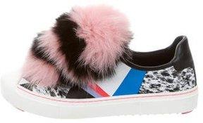 Fendi Fox Pom-Pom Monster Sneakers