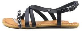 Roxy Womens Tigres Open Toe Casual Slide Sandals.
