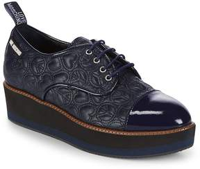 Love Moschino Women's Quilted Leather Platform Derbys