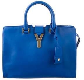 Saint Laurent Small Cabas Y Bag - BLUE - STYLE