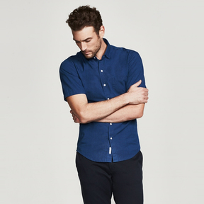 DL1961 the blue shirt shop x BOWERY & BLEECKER SLIM SHORT SLEEVE