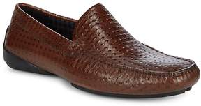Karl Lagerfeld Men's Diamond Embossed Leather Loafers