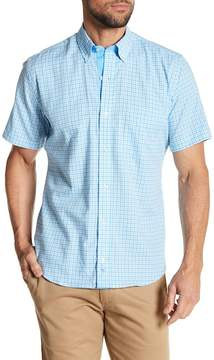 Tailorbyrd Checkered Short Sleeve Trim Fit Shirt
