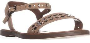 Material Girl Mg35 Delany Studded Flat Sandals, Taupe.