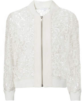 IRO Lace White Bomber Jacket