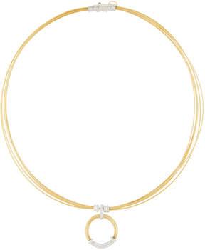 Alor Classique Cable & Diamond Pendant Necklace, Yellow