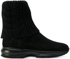 Hogan knit foldover boots