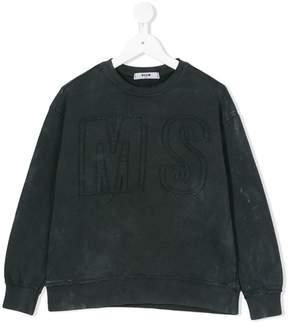MSGM raw edge logo sweatshirt
