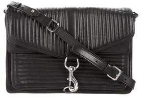 Rebecca Minkoff Quilted Hudson Moto Crossbody Bag - BLACK - STYLE