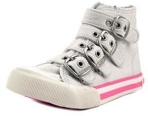 Rocket Dog Jaimme Youth Round Toe Canvas Ivory Sneakers.