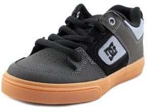 DC Pure J Round Toe Leather Skate Shoe.