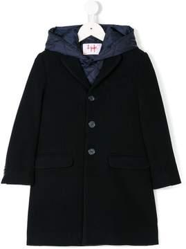 Il Gufo hooded vest & coat set