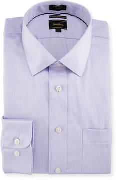 Neiman Marcus Classic-Fit Dobby Dress Shirt, Purple