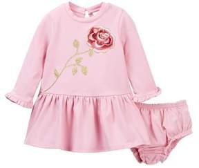 Kate Spade embroidered rose dress set (Baby Girls)
