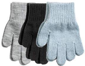 H&M 3-pack Gloves - Blue