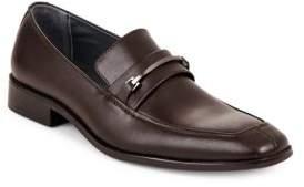 Calvin Klein Gallard Textured Leather Loafers