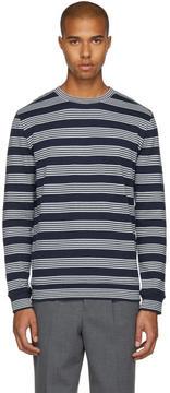 A.P.C. Navy Striped Jeremie Sweatshirt