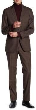 English Laundry Notch Lapel Plaid Print Trim Fit 2-Piece Suit