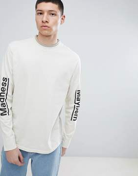 Champion x Wood Wood Madness Long Sleeve T-Shirt In Stone